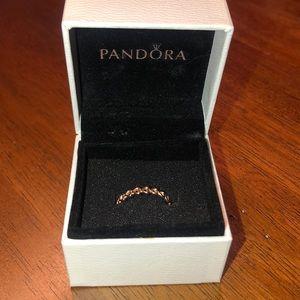 Pandora Rose Linked Love Ring